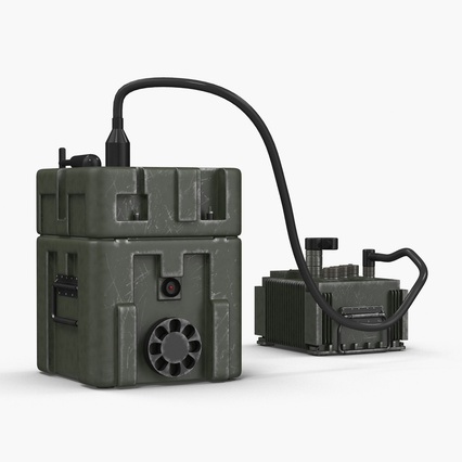 TOW Missile Guidance Set and Battery. Render 7