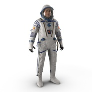 Russian Astronaut Wearing Space Suit Sokol KV2 Rigged for Maya. Preview 5