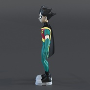 Robin Cartoon Character Rigged for Maya. Preview 7