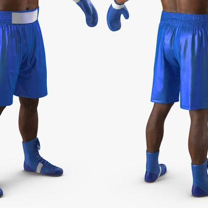 African American Boxer Rigged for Cinema 4D. Render 16