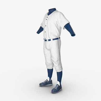 Baseball Player Outfit Generic 8. Render 9
