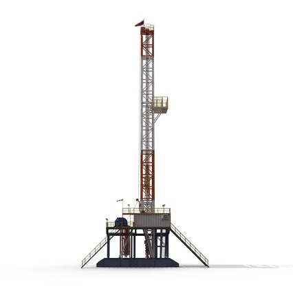 Fracking Gas Platform. Render 9