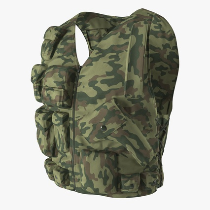 Military Camouflage Vest. Render 1