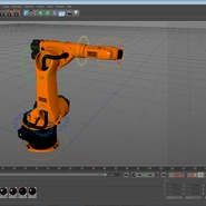 Kuka Robot KR 30-3 Rigged for C4D. Preview 27
