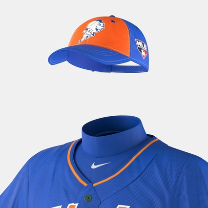Baseball Player Outfit Mets 2. Render 28