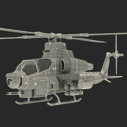 Attack Helicopter Bell AH 1Z Viper Rigged. Render 91