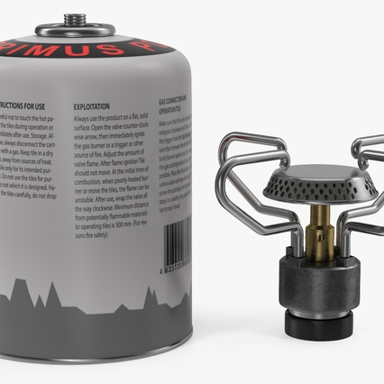 Gas Cylinder with Camping Stove. Render 8
