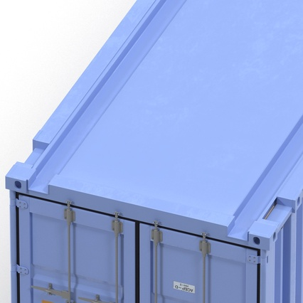 45 ft High Cube Container Blue. Render 29