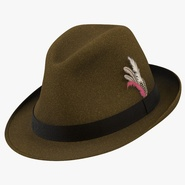 Fedora Hat 2 Brown