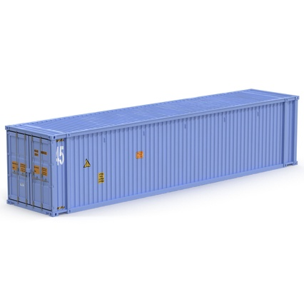 45 ft High Cube Container Blue. Render 2