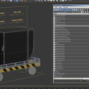 Airport Transport Trailer Low Bed Platform with Container Rigged. Preview 31