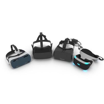 Virtual Reality Goggles Collection. Render 7