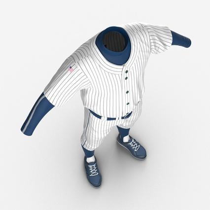 Baseball Player Outfit Generic 8. Render 13