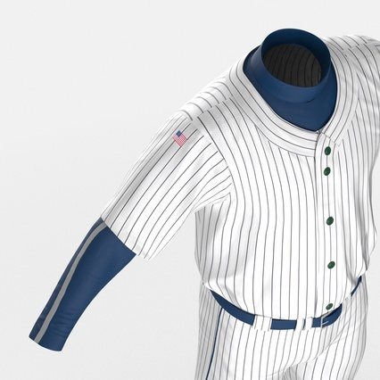 Baseball Player Outfit Generic 8. Render 22