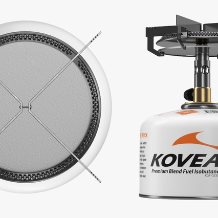 Single Burner Camping Gas Stove Kovea. Render 9
