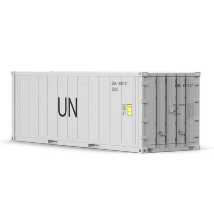 ISO Refrigerated Container. Render 10