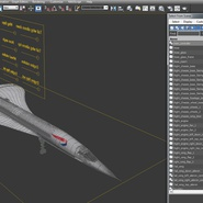 Concorde Supersonic Passenger Jet Airliner British Airways Rigged. Preview 25