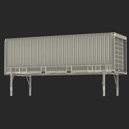 Swap Body Container ISO Blue. Render 4