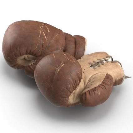 Old Leather Boxing Glove(1). Render 13