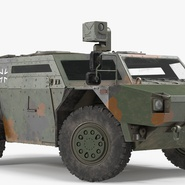 Fennek German Reconnaissance Vehicle Rigged. Preview 6