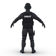 SWAT Man Mediterranean Rigged for Cinema 4D. Preview 14