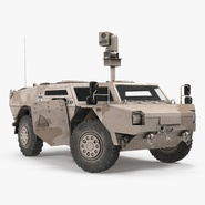 Fennek KMW 4x4 Armoured Vehicle Rigged