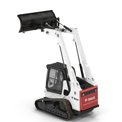 Compact Tracked Loader Bobcat With Blade Rigged. Render 21