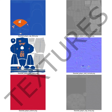 Baseball Player Outfit Mets 2. Render 41