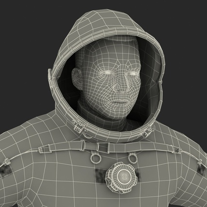 Russian Astronaut Wearing Space Suit Sokol KV2 Rigged for Maya. Render 60