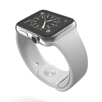 Apple Watch Sport Band White Fluoroelastomer 2. Render 10