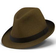Fedora Hat Brown. Preview 2