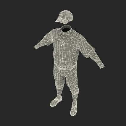 Baseball Player Outfit Mets 2. Render 48
