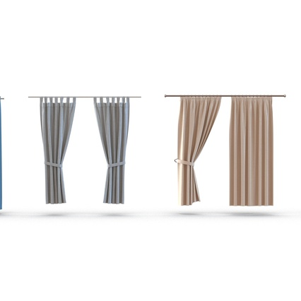 Curtains Collection. Render 12