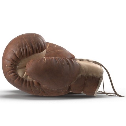 Old Leather Boxing Glove(1). Render 6