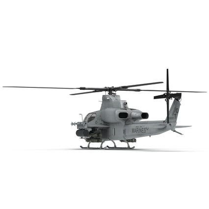 Attack Helicopter Bell AH 1Z Viper Rigged. Render 24
