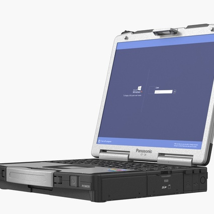 Panasonic Toughbook. Render 3