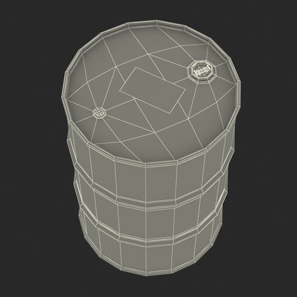 Oil Barrel Shell. Render 20