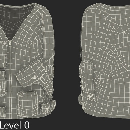 Military Camouflage Vest. Render 10