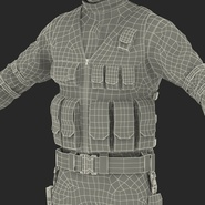 SWAT Man Mediterranean Rigged for Cinema 4D. Preview 55