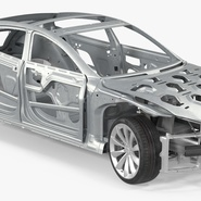 Tesla Model S Frame and Chassis. Preview 11