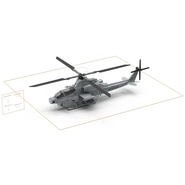 Attack Helicopter Bell AH 1Z Viper Rigged. Preview 82