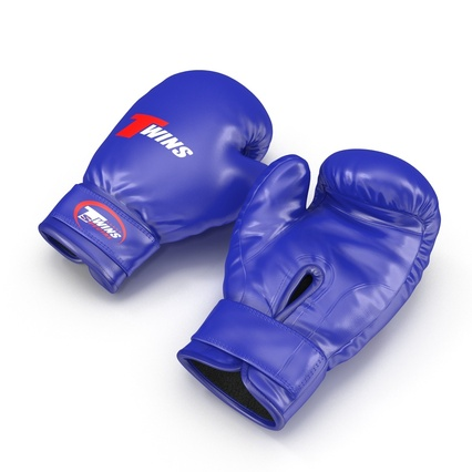 Boxing Gloves Twins Blue. Render 3