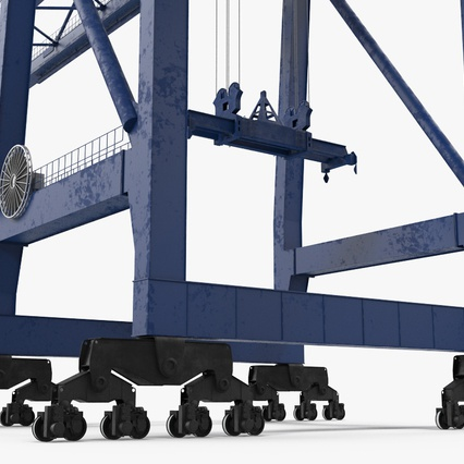 Container Crane Blue. Render 19