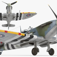 Royal Air Force Fighter Supermarine Spitfire LF Mk IX Rigged. Preview 12