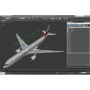 Jet Airliner Airbus A330-300 Emirates Rigged. Preview 57