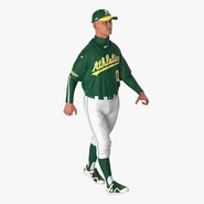 Baseball Player Rigged Athletics 2