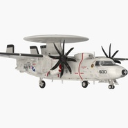 Grumman E-2 Hawkeye Tactical Early Warning Aircraft Rigged. Preview 3