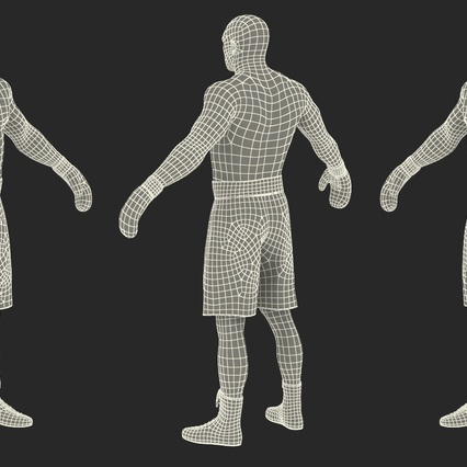 African American Boxer Rigged for Cinema 4D. Render 30
