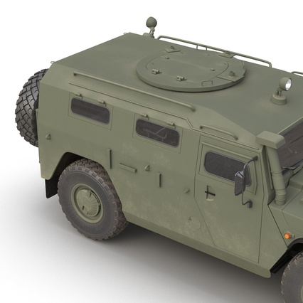 Russian Mobility Vehicle GAZ Tigr M Rigged. Render 35