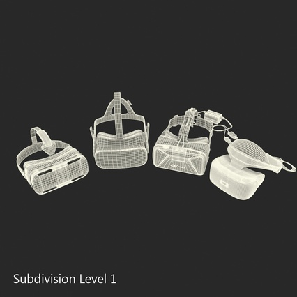Virtual Reality Goggles Collection. Render 80